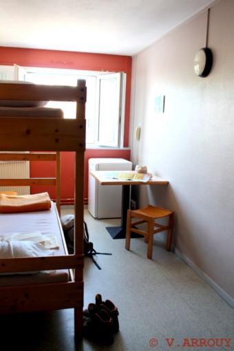 Une des chambres de l'Auberge de Pau-centre ville