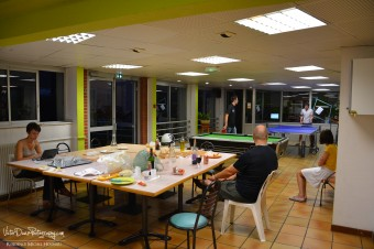 Espace collectif,résidents et auberge de jeunesse